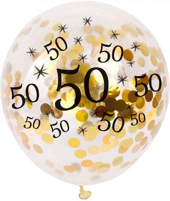 5 Confetti Ballonnen 50 Jaar Verjaardag