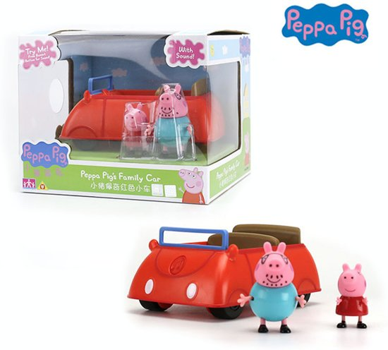 Peppa pig auto met Peppa en pappa big poppetjes